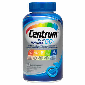 【clearance】Centrum Complete Multivitamin & Mineral Supplement Men 50+, 250 tabs EXP:2021/08
