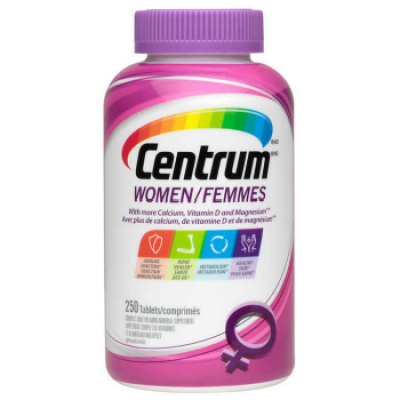Centrum Multivitamin/Mineral for Women, 250 tablets