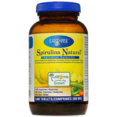 Earthrise® Spirulina Natural,500mg,180 tabs