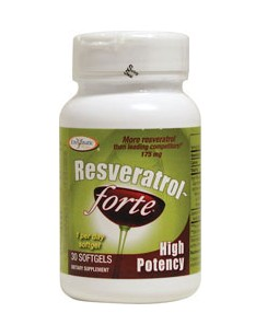 Enzymatic Therapy Resveratrol forte, High potency, 30 softgels