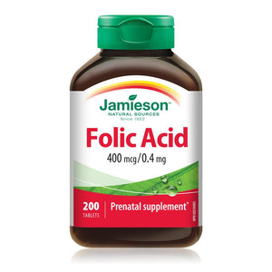 Jamieson Folic Acid 400 mcg, 200 tablets