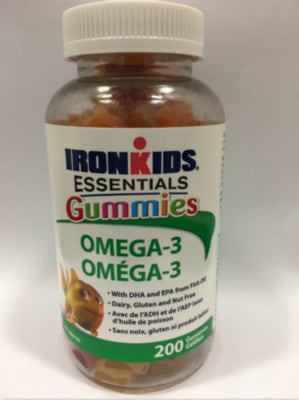 IronKids Essentials Omega-3 Gummies, 200 gummies