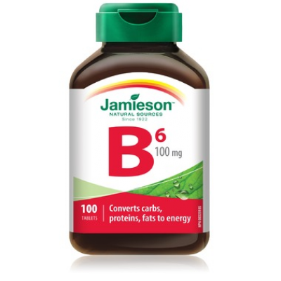 Jamieson VItamin B6, 100 mg, 100 tablets