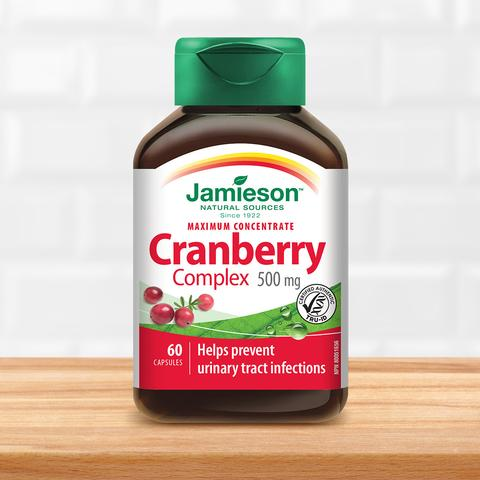 Jamieson Cranberry Concentrate 500mg, 60 caps