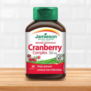 【clearance】Jamieson Cranberry Concentrate 500mg, 60 caps  EXP:2021/6