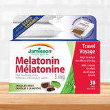 Jamieson Melatonin 3mg Fast Dissolving Strips Chocolate Mint, 30 Strips