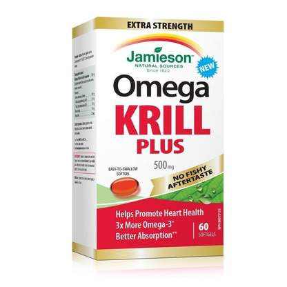 Jamieson Omega Krill Plus 500 mg, 60 softgels