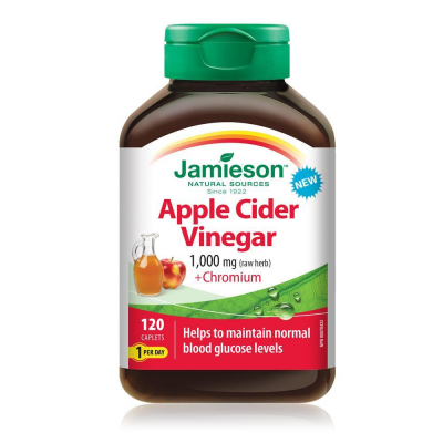 Jamieson Apple Cider with Chromium 120 caplets
