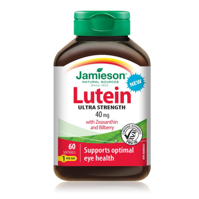 Jamieson Lutein 40mg Ultra Strength 60 softgels
