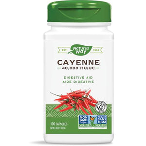 Nature's Way Cayenne Pepper 40,000H.U., 450mg, 100 caps