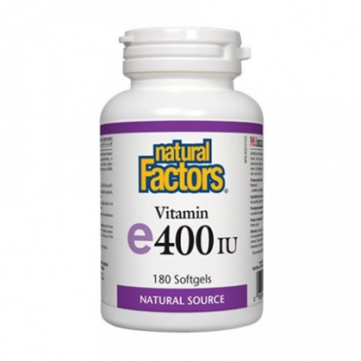 【clearance】Natural Factors Vitamin E 400 iu d'alpha tocopherol  EXP:2021/11