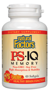 Natural Factors PS·IQ Memory , nonGMO, 60 softgels