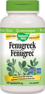 【clearance】Nature's Way Fenugreek Seed,Breastfeeding Supplement, 610mg, 180 caps EXP:2022/5/31