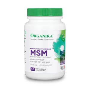 Organika MSM (Methyl-Sulfonyl-Methane), 1000 mg, 90 capsules