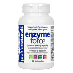 Prairie Naturals Enzyme-Force with FibraZyme, 60 vegetarian capsules