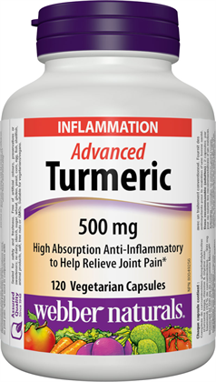 Webber Naturals Advanced Turmeric, 500 mg, 120 vcaps
