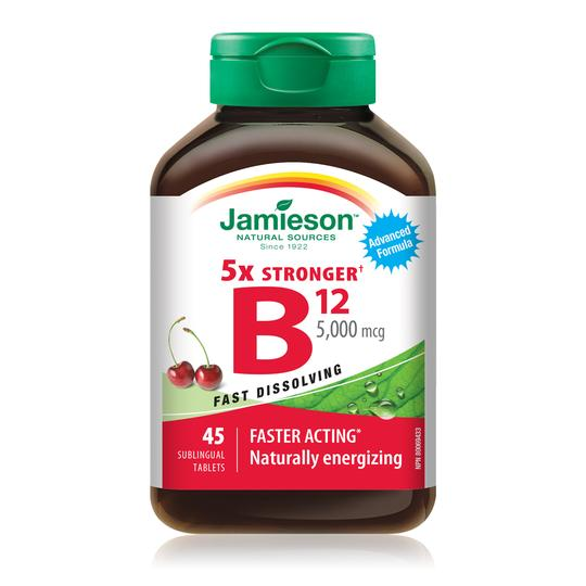 Jamieson B12 5000 mcg 45 Sublingual tablets