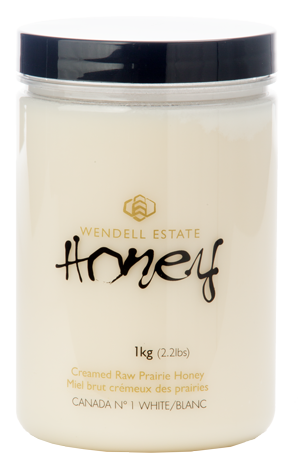 Wendell Estate Creamed Raw Prairie Honey, White, 1 kg