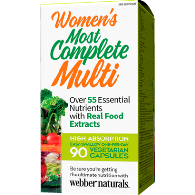 Webber Naturals Women's Most Complete Multi, 90 Vegetarian Capsules