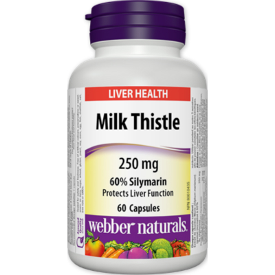 [Promotional Item] 32x Webber Naturals Milk Thistle, 250 mg, 60 caps