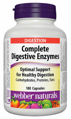 Webber Naturals Complete Digestive Enzymes, 180 caps
