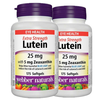 (Promotion Item) 2xWebber Naturals Lutein Extra Strength, 25mg w/ 5 mg Zeaxanthin, 175 SG