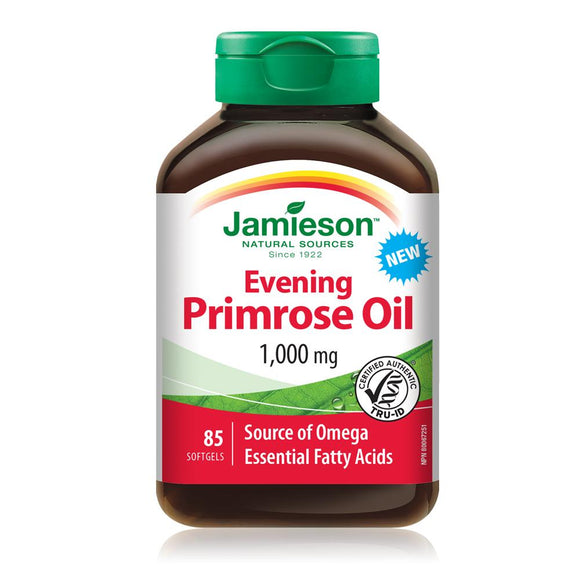 Jamieson Evening Primrose Oil 1000 mg 85 softgels
