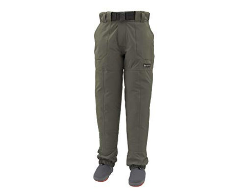 Waterproof Fishing Wading Pants, Dark Gunmetal, Large 9-11 Foot Simms - 5B outfitters