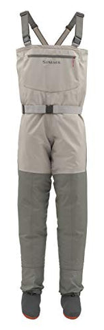 Ladies  Waterproof Chest Fishing Waders, Platinum, Large Simms - 5B outfitters