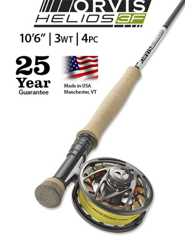 "Helios 3F 3-Weight 10'6"" Fly Rod Orvis - 5B outfitters"