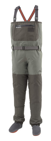 Waterproof Stockingfoot Chest Fishing Waders, Dk Gunmetal, Large 9-11' Simms - 5B outfitters