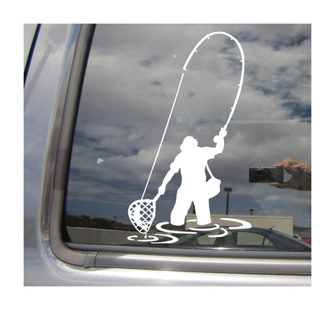 Fly Fishing Fisherman Trout Fish Decals - 5B outfitters