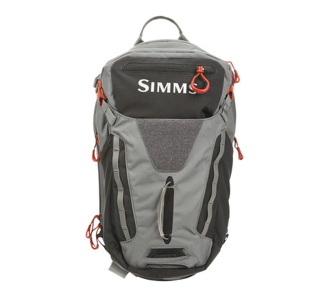 Fishing Sling Pack, Water Resistant Backpack, Grey Simms - 5B outfitters