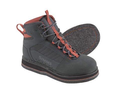 Felt Sole Wading Boots, Unisex Felt Bottom Boots, Carbon, 5 Simms - 5B outfitters