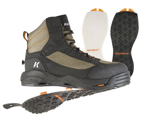 Korkers Greenback Wading Boot with Felt & Kling-On Soles - 5B outfitters