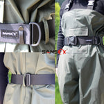 "Fishing Wader Belt Duty Wading Belts Fits to 55"" Waist Straps - 5B outfitters"