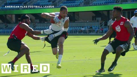 INSIDE THE HIGH-TECH FLAG FOOTBALL LEAGUE THAT'S TAKING ON THE NFL