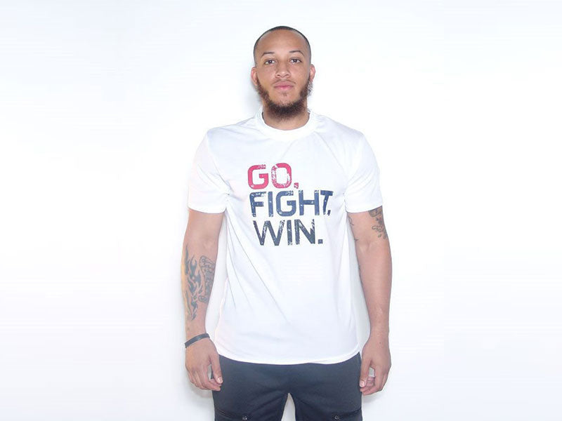 GO FIGHT WIN WHITE TEE