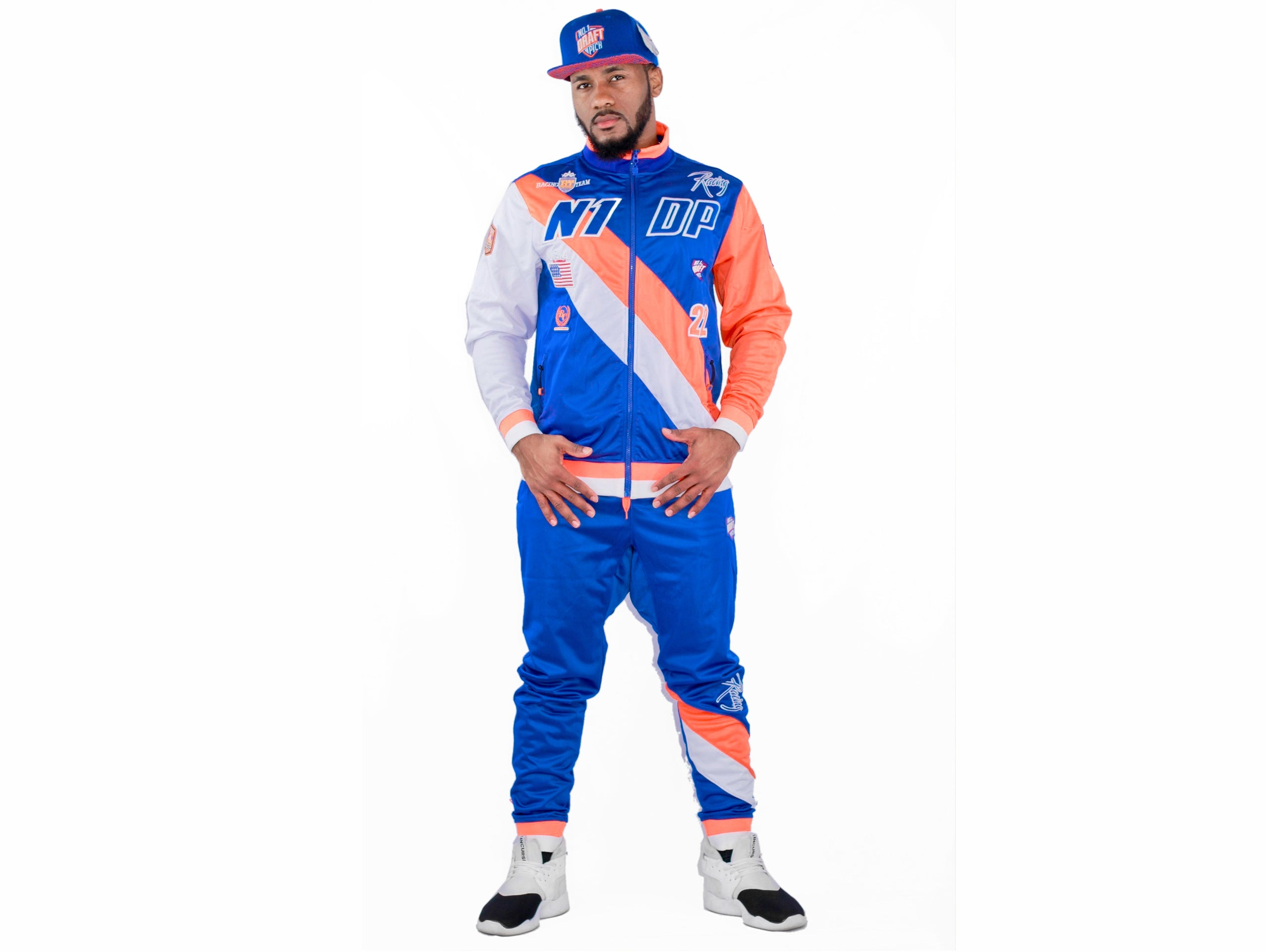 NEW YORK Royal Blue/White/Orange