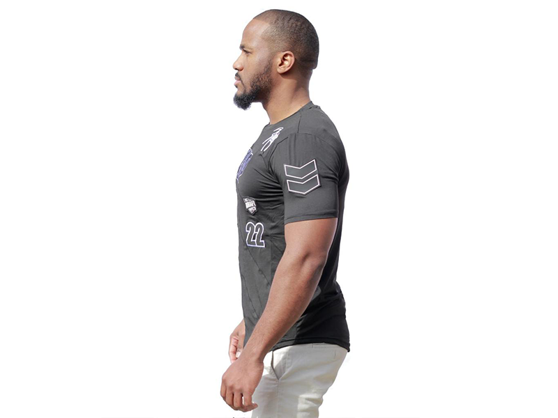 Racing Tee Black on Black