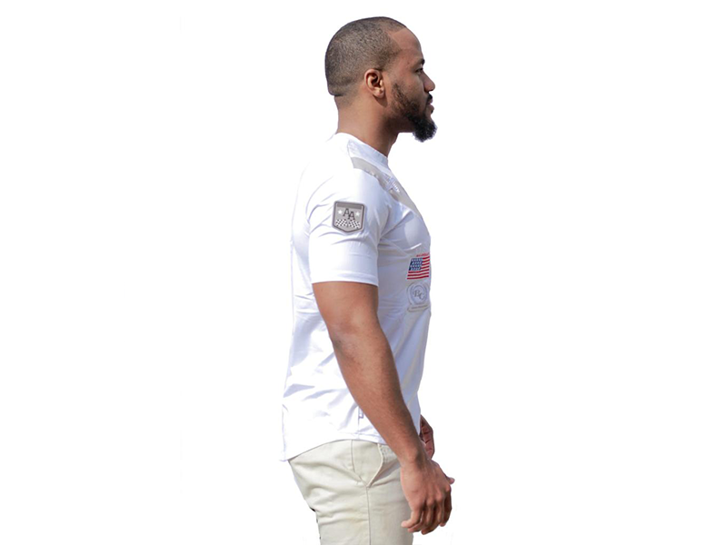Racing Tee White on White