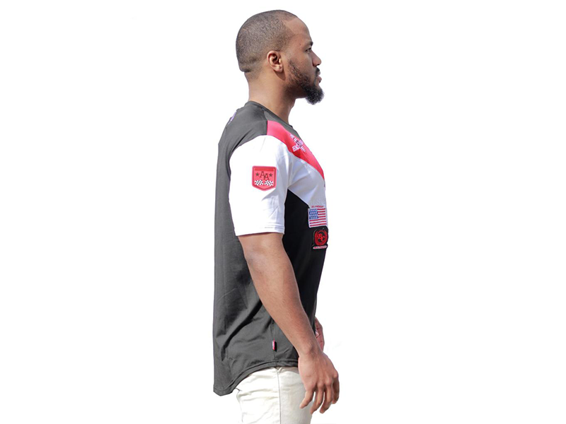 Racing Tee Chicago Red/Black/white