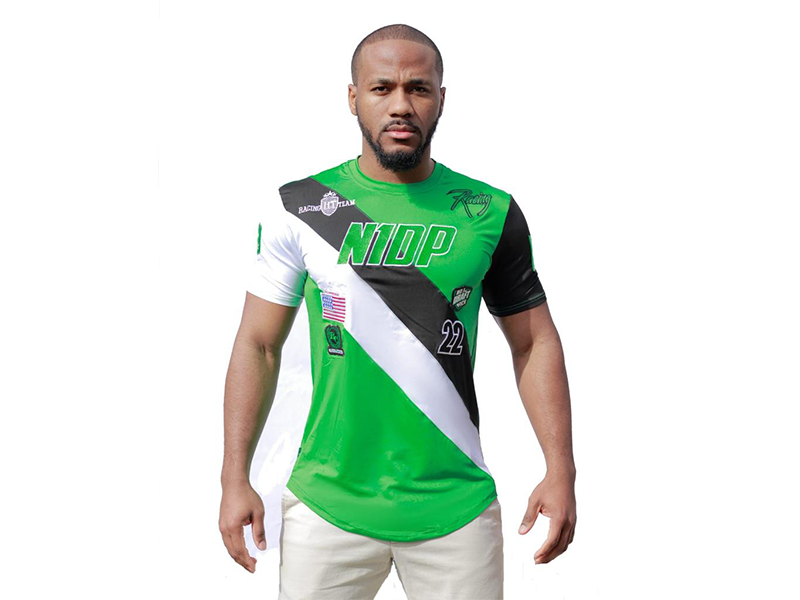 Racing Tee Boston Green/Black/white