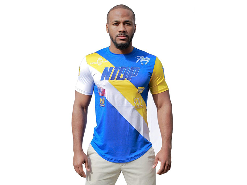 Racing Tee Golden State Royal Blue/Gold/white