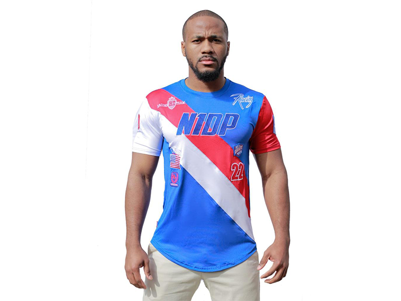 Racing Tee USA Royal Blue/Red/white