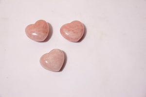 Rose Quartz Hearts 1.5""