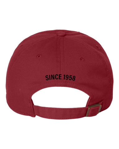 Vinyl Badge Ball Cap <br> Red