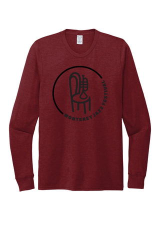 Women's Classic Badge Long Sleeve Tee <br> Vino Red