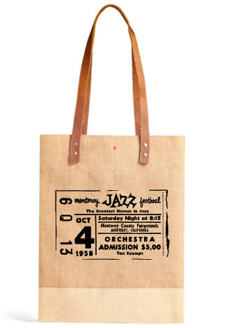 MJF Vintage Ticket Wine Tote