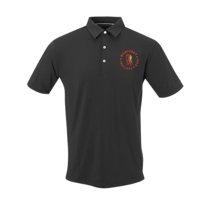 Men's Bold Badge Golf Polo <br> Black